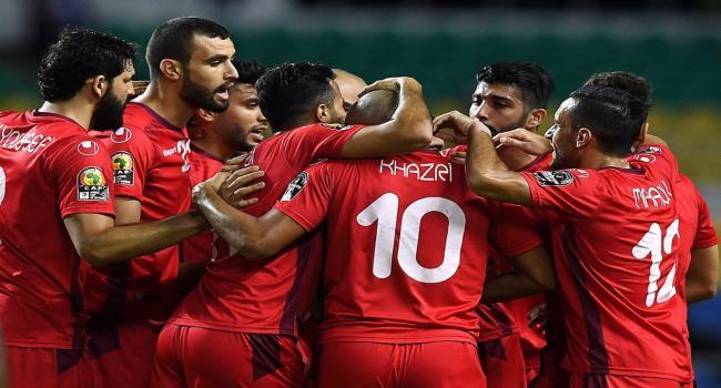 Football: Formation rentrante de la Tunisie contre le Costa Rica en match amical à Nice en France