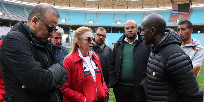 Tunisie : La ministre de la Jeunesse et des Sports en visite au stade de Radès
