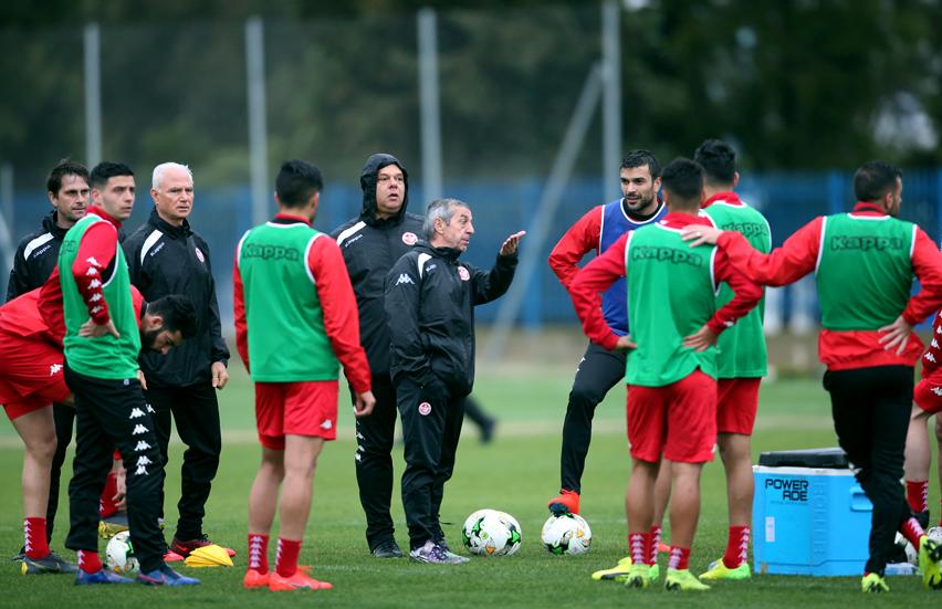 Equipe nationale : Première séance d'entraînement en Egypte