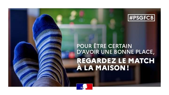France : Le ministère de l'intérieur appelle à supporter le PSG de chez soi