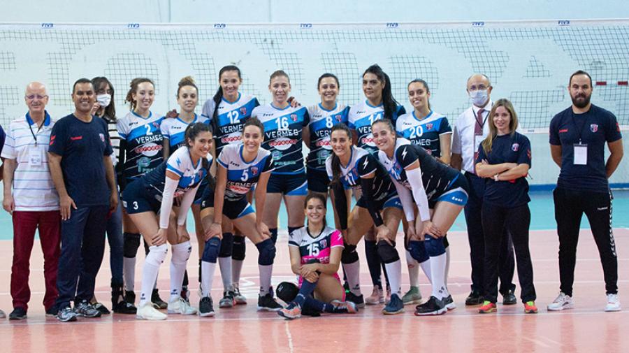 Volley – Dames : Le CF Carthage remporte la Supercoupe de Tunisie et signe le doublé